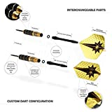 Professional Darts Set - Customizable Configuration 6 Steel Tip Darts (18gram/22gram)   6 Aluminum Shafts (35mm/48mm)  12 Flights (6Standard/6Slim)   Darts Tool   Darts Sharpener and Premium Case