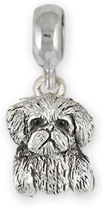 Maltese Jewelry Sterling Silver Handmade Maltese Charm Slide This Charm Will Fit