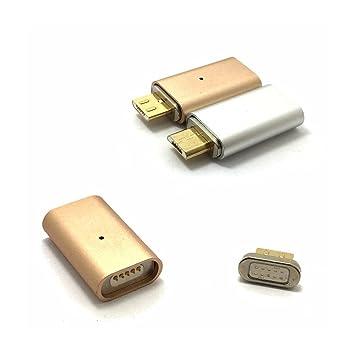 Adaptador de Cargador magnético Micro USB Hembra a Android ...