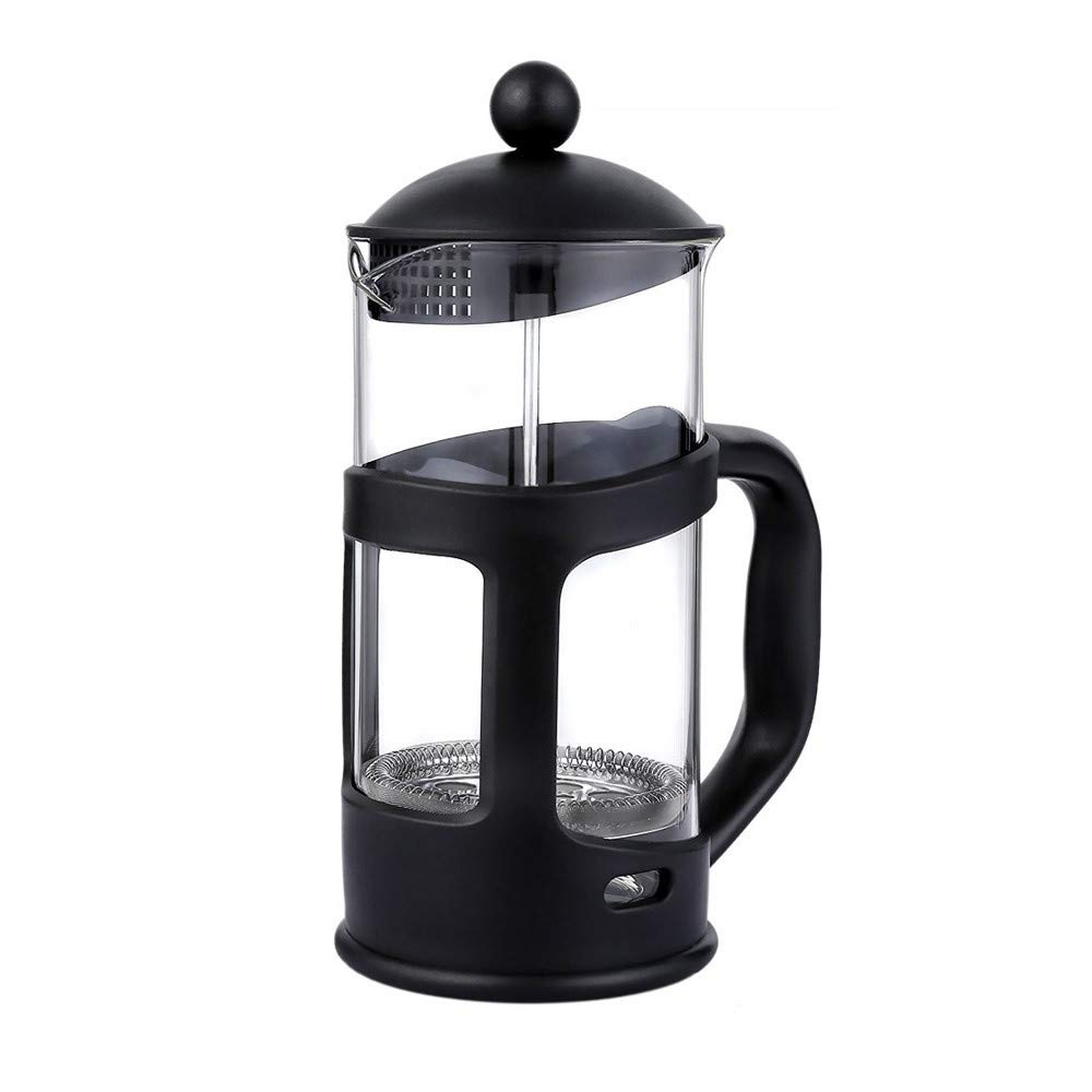 Huichang Brazil French Press Coffee Maker, 12 Ounce,35 Liter, (3 Cup), Black (Black)