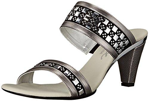 Onex Women's Chess Dress Sandal - Pewter - 7 B(M) US