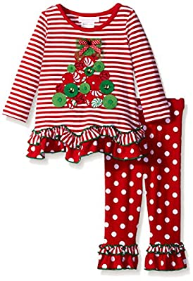Cute Christmas Tree Legging Set for Babies & Toddlers from Bonnie Baby