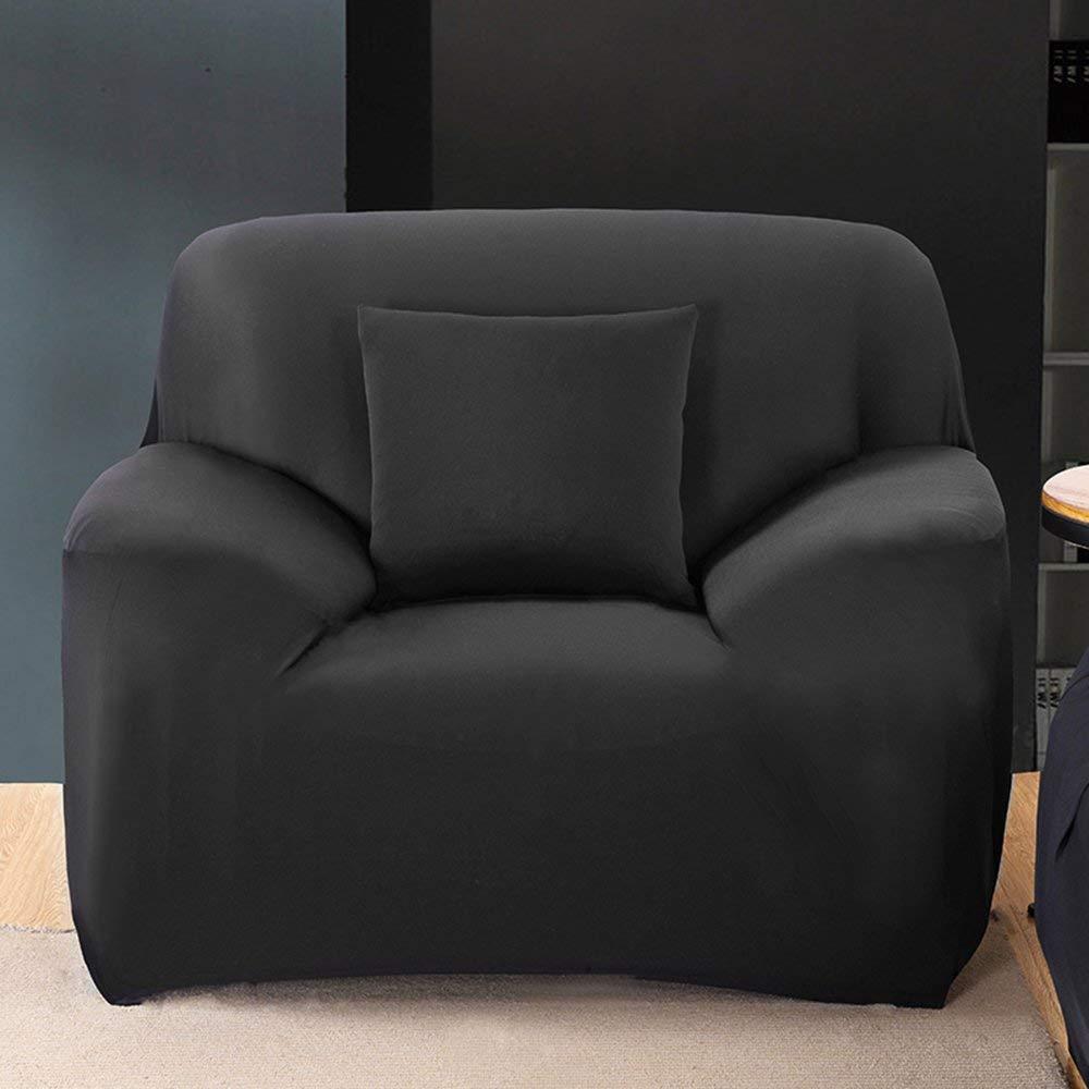 grau 1 Seater:90-140cm elastischer Stoff 1//2 // 3//4 Personen waschbar Snow Island Sofabezug f/ür 1//2 // 3//4-Sitzer