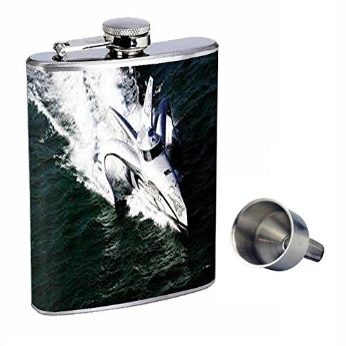 【期間限定】 Perfection with Inスタイル8オンスステンレススチールWhiskey Flask Free Flask with Free Funnel速度ボートdesign-019 B0181MCELQ, 板柳町:d30e6c7e --- shrigajendrajewellers.com