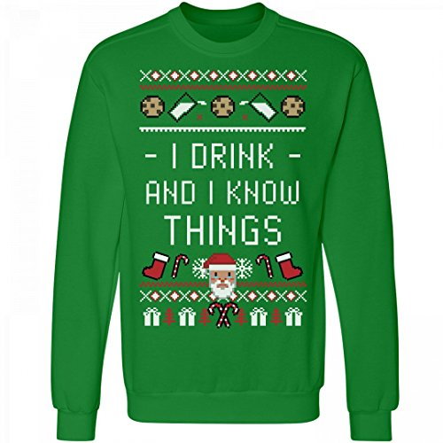 I Drink And I Know Things Santa: Unisex Anvil Crewneck Sweatshirt