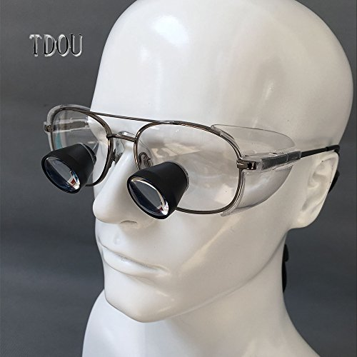 Tdou 2.3X FD504G Private Custom Quartz Lenses Embedded Magnifying Glass Titanium Alloy Frame High-End Grade with High-Grade Mahogany Box (58) by Tdou (Image #2)