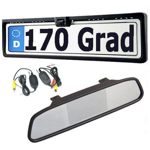 ebc20663a658c ... de nuit 170 degrés caméra de recul pour voiture plaque de license recul  systeme étanche IP67 transmetteur sans fil  Amazon.fr  High-tech