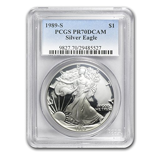 1989 S Proof Silver American Eagle PR-70 PCGS (Registry Set) PR-70