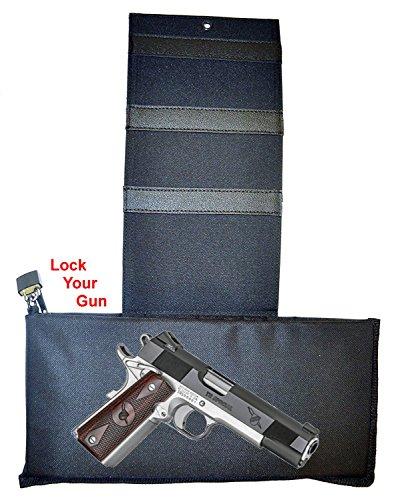 Explorer Tactical Gun Holster for belt, bed mattress car auto desk home office use for gun 1911 (Conceal-H25)