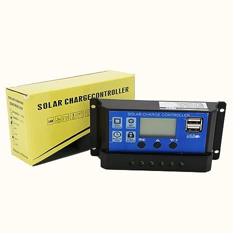 Vingo® 10 A LCD Solar Batería Regulador Controlador Regulador digital de carga carga solar LED de Pantalla Inteligencia con Dual USB para casa la Industria ...