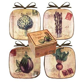 Manual Set of 4 Decorative Mini-Plates Vintage Veggies  sc 1 st  Amazon.com & Amazon.com: Manual Set of 4 Decorative Mini-Plates Vintage Veggies ...