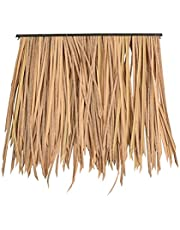 Artificial Thatch Tile, Fake Straw Used for Leisure Pavilion Decorative Garden Scenery Artificial Thatch Roof Antique Brick Anti-Aging (Color : Beige-6pcs, Size : 50x50cm)