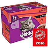 Whiskas 7+ Cat Pouches Meat in Gravy 12 x 100g (PACK OF 4)