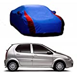 MotRoX Lively Water Resistant Car Body Cover for Tata Indica (R Blue & Blue - V Shape)