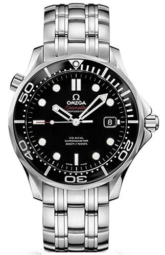 Omega Seamaster 41 mm negro Dial Mens Reloj 212.30.41.20.01.003: Amazon.es: Relojes