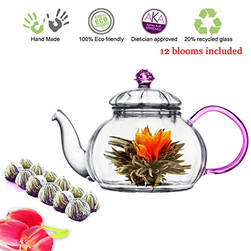 Tea Beyond Tea Set Teapot and Flowering Tea Set (20 oz Pink Detox 12cts)