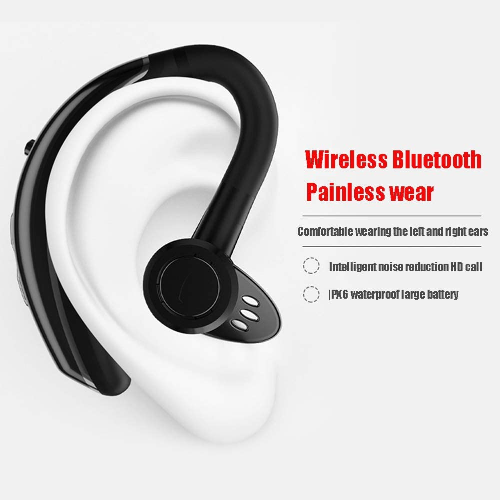 YUYUBAOER Wireless Bluetooth Earbuds Noise Reduction Earphones Voice Answer for Apple Android Phone Waterproof Sports Fitness Casual In-ear Headphones-red black