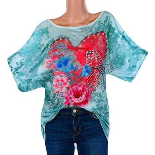 Moda Top elegante farfalle Corta Manica Shirt Estivo donna Verde Camicia Sysnant Donna Girocollo Shirt Strass T Cotone Estate Stampa Maglietta Amore T Maglietta con in estiva Camicetta wOIEwB