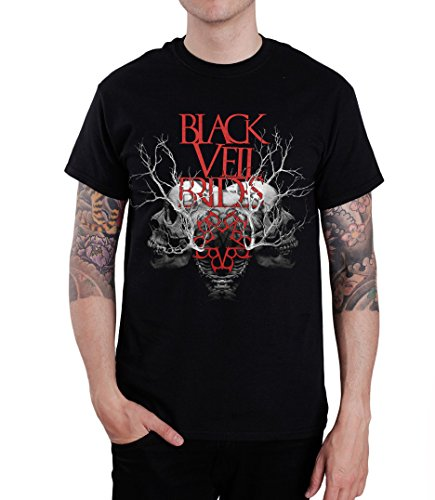 PV Black Veil Brides Branches Skull Men's T-Shirt Black (XX-Large)