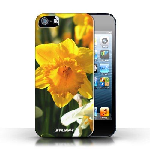 iCHOOSE Print Motif Coque de protection Case / Plastique manchon de telephone Coque pour Apple iPhone 5/5S / Collection floral Fleurs / jonquille