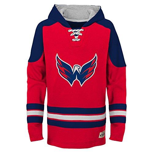 NHL Washington Capitals Youth Boys Legendary Hoodie, Large(14-16), Red