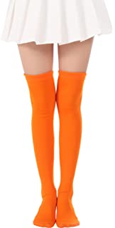 193873eece2bf Over Knee Long Stockings Solid Thigh High Socks and Dots Tights High Socks  Opaque Costume Stockings