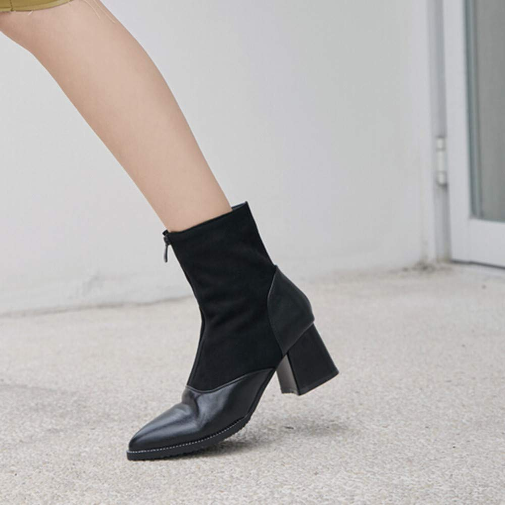 Lurryly❤Womens Fashion Winter Snow Boots Ankle Boot Front Zipper Classic Bootie Shoes