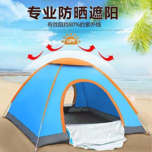 ZHUDJ Outdoor Park, Doppel 3-4 Mann, Automatische Werfen Hand Werfen Automatische Zelt, Camping Camping Ausrüstung, Regendicht Und Sonnenschutz Zelt, Blau 45d68d