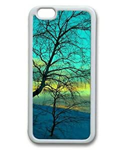 Armener iPhone 6 Plus (5.5 inch) White Sides Rubber Shell TPU Case With Winter Withered Tree