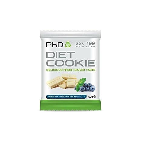 PhD - Galleta dietética nutricional, 50 g, paquete de 12 unidades.