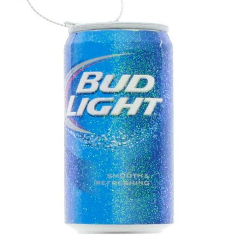 Beer Christmas Ornament - Kurt Adler Budweiser Bud Light Beer Can Christmas Ornament