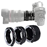 Micnova KK-C68 Pro Auto Focus Macro Extension Tube Set for Canon EOS EF & EF-S Mount 5D2 5D3 6D 650D 750D (12mm 20mm and 36mm Tubes)