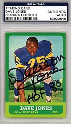 "Deacon Jones Autographed 1997 Topps Rookie Reprint Card #44 Los Angeles Rams ""HOF '80"" PSA/DNA Stock #110474"