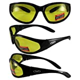 HERCULES - Advanced System Safety Glasses - FREE Rubber EAR LOCKS and Microfiber Pouch - ANSI Z87.1+ Safety Compliant