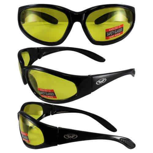 Global Vision Eyewear Hercules Safety Glasses, Yellow Tint Lens ()