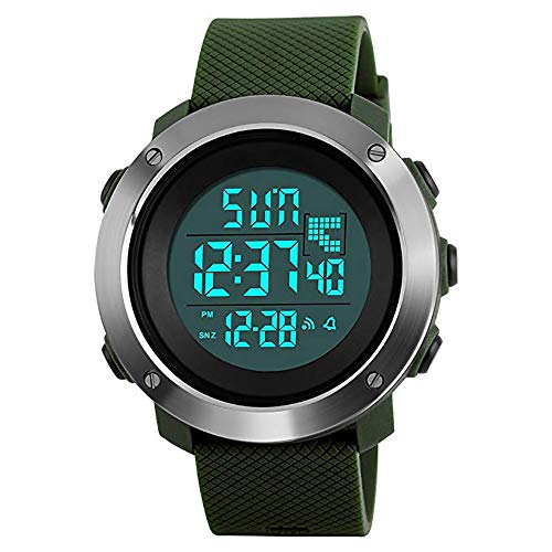 Mens Sports Watches Digital LED Screen Large Face Backlight Military Waterproof Watch Boys Gift