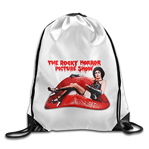Bekey The Rocky Horror Picture Show Drawstring Backpack Sport Bag For Men & Women For Home Travel Storage Use Gym Traveling Shopping Sport Yoga (75 Photo Backpack)