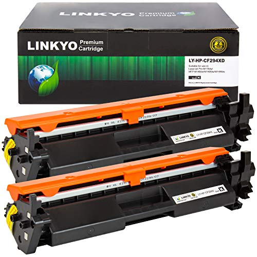LINKYO Compatible Toner Cartridge Replacement for HP 94A CF294A (Black, 2-Pack)