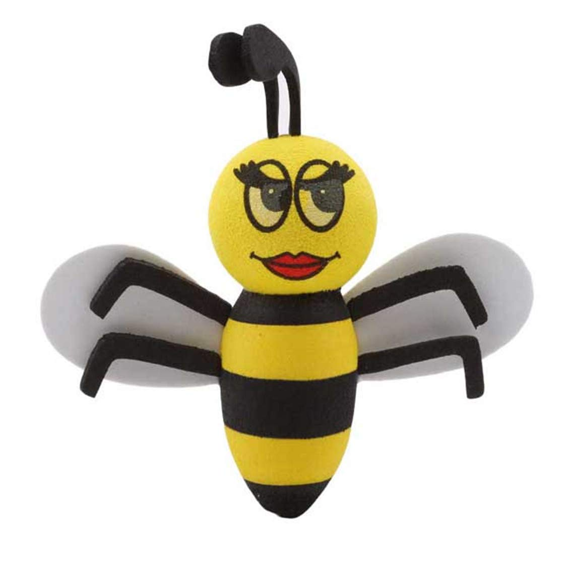 #1 Idiytip Cute Honeybee Bee Queen Car Antenna Toppers Smiley Honey Bumble Aerial Balls Antenna Topper Auto Exterior Vehicle Roof Decor