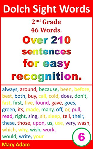 Amazoncom Dolch Sight Words 2nd Grade 46 Words Over 210