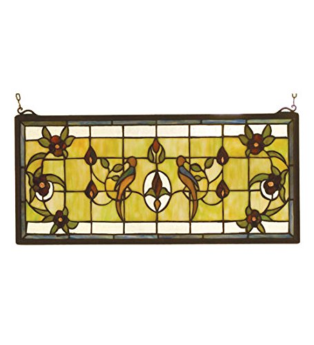 Lancaster Glass Accessory - Tiffany Style Lancaster Stained Glass Window Panel