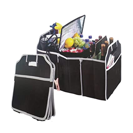 Compartimentos m/últiples 23 x 12 x 12 cm port/átil Jeerui Bolsa Plegable Organizador Plegable para Maletero de Coche