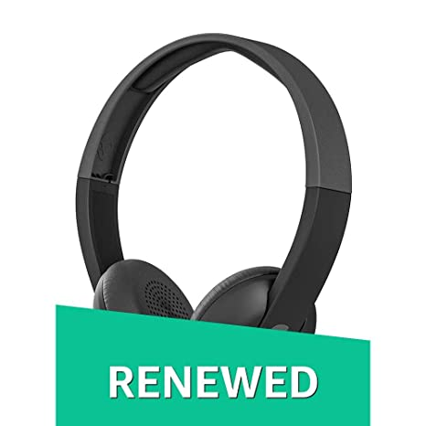 (Renewed) Skullcandy S5URHW-509 On-Ear Wireless Headphones (Black) On-Ear Headphones at amazon