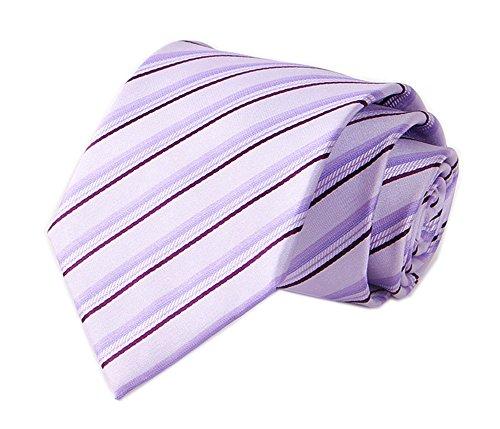 Men's Light Purple Woven Silk Ties HANDMADE Luxury Suit Necktie Birthday Present