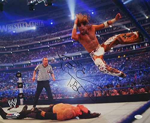 Shawn Michaels Signed WWE 16x20 Photo vsUndertaker WrestleMania 25 Insc HBK JSA (Wwe Royal Rumble Winners)