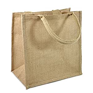 Amazon.com: Bolsas de yute de arpillera natural ...
