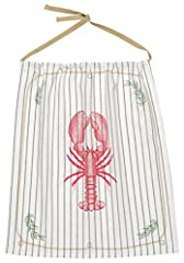 Get ready for your backyard lobster cookout with this reusable lobster bib by Now Designs. Measuring a generous 22.5 inches long by 20 inches wide, this cotton bibs sure to protect your clothes from all manners of lobster mess! Keep a handful...