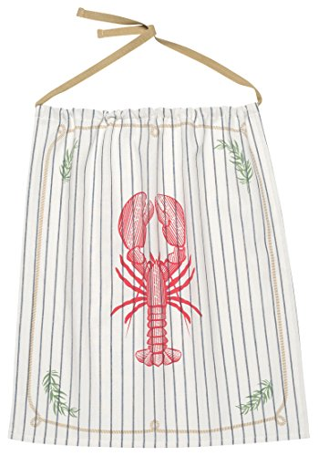 Now Designs Striped Apron (Now Designs Reusable Cotton Lobster Bib, Lobster Catch Design)