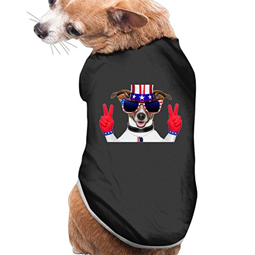 [Dog Clothes Patriots' Day 2016 Pet Supplies Sweatshirts Beautiful Art Polyester Fiber Dog Costumes Dog] (Welcome To The Black Parade Costume)