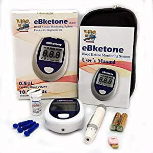 eBketone Blood Ketone Monitoring System + 10 Ketone strips